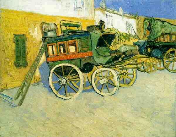 Tarascon Diligence   Vincent Van Gogh   oil painting