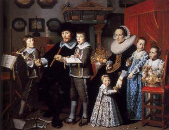 Portrait of Michiel van der Dussen and His Family 1640 | Hendrick Cornelisz Van Vliet | oil painting