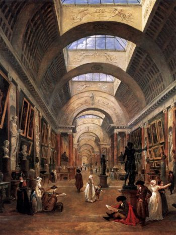 Design for the Grande Galerie in the Louvre (detail) 1796 | Hubert Robert | oil painting
