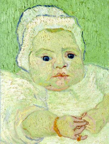 The Baby Marcelle Roulin version 3 | Vincent Van Gogh | oil painting