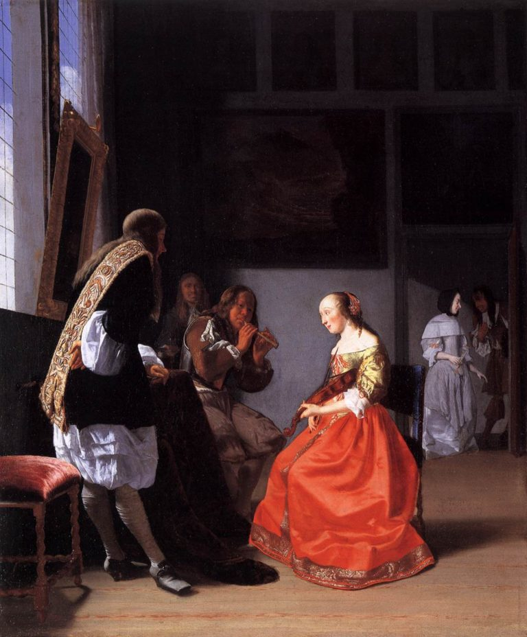 Musical Company in an Interior 1670 | Jacob Ochtervelt | oil painting