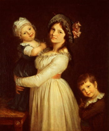 Family portrait of Madame Anthony and her children 1785 | Piere-Paul Prudhon | oil painting