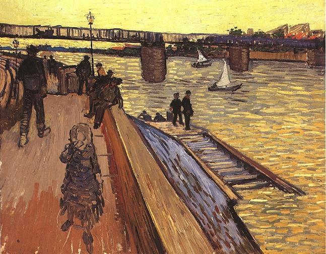 The Bridge at Trinquetaille   Vincent Van Gogh   oil painting