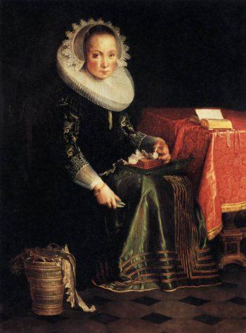 Portrait of Eva Wtewael 1628 | Joachim Wtewael | oil painting