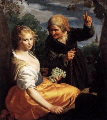 Vertumnus and Pomona 1625-30 | Paulus Moreelse | oil painting