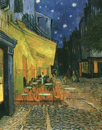 The Cafe Terrace on the Place du Forum Arles at Night | Vincent Van Gogh | oil painting