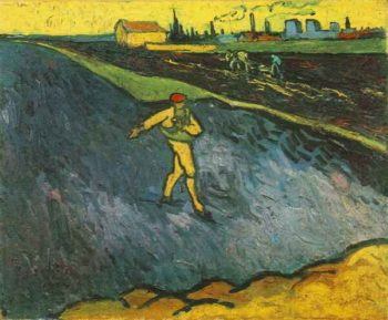 Sower Outskirts of Arles in the Background, The Vincent Van Gogh