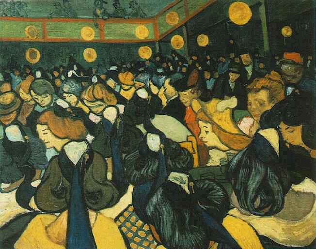 The Dance Hall in Arles | Vincent Van Gogh | oil painting