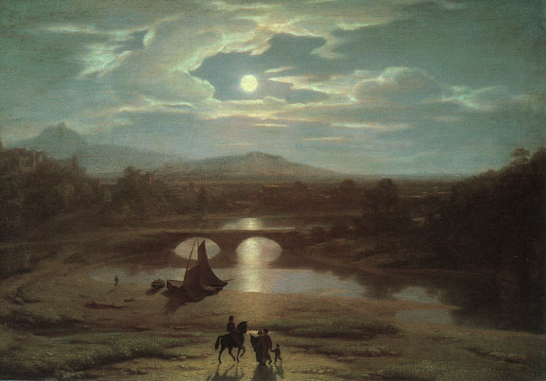 Moonlit Landscape 1819 | Washington Allston | oil painting