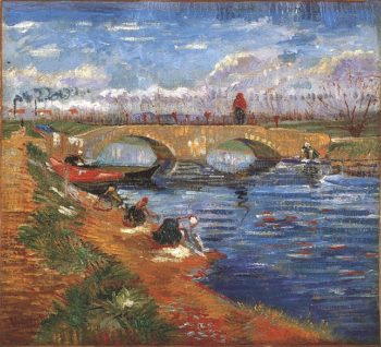 The Gleize Bridge over the Vigueirat Canal | Vincent Van Gogh | oil painting