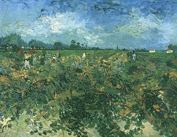 The Green Vineyard | Vincent Van Gogh | oil painting