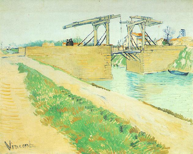 The Langlois Bridge at Arles with Road Alongside the Canal | Vincent Van Gogh | oil painting