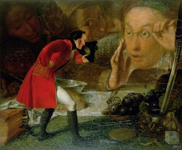 Gulliver Exhibited to the Brobdingnag Farmer   Richard Redgrave   oil painting