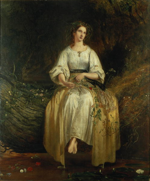 Ophelia weaving her garlands 1842 | Richard Redgrave | oil painting