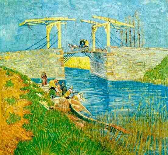 The Langlois Bridge at Arles | Vincent Van Gogh | oil painting
