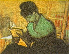 The Novel Reader | Vincent Van Gogh | oil painting