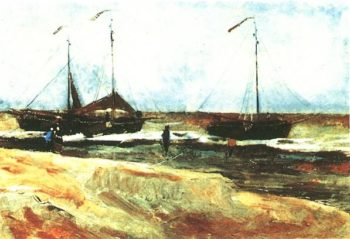 Beach at Scheveningen in Calm Weather | Vincent Van Gogh | oil painting
