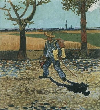 The Painter on His Way to Work | Vincent Van Gogh | oil painting