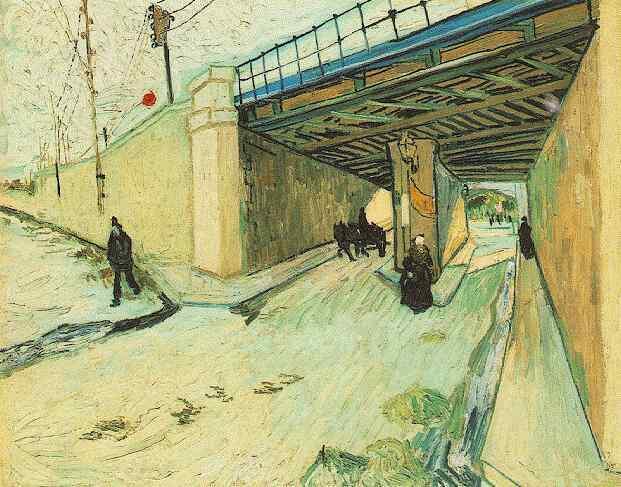 The Railway Bridge over Avenue Montmajour Arles | Vincent Van Gogh | oil painting