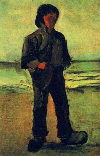 Fisherman on the Beach | Vincent Van Gogh | oil painting