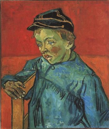 The Schoolboy (Camille Roulin) | Vincent Van Gogh | oil painting