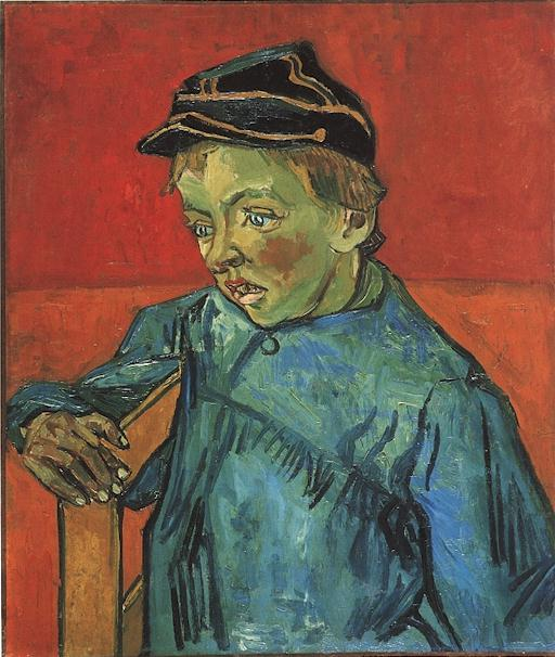 The Schoolboy (Camille Roulin)   Vincent Van Gogh   oil painting