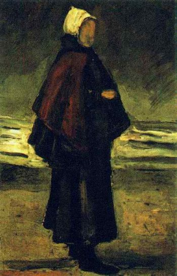 Fishermans Wife on the Beach | Vincent Van Gogh | oil painting
