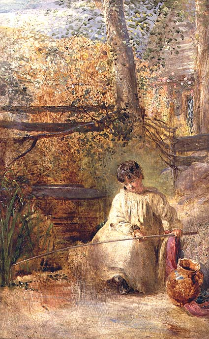 A Boy Fishing | Samuel Palmer | oil painting