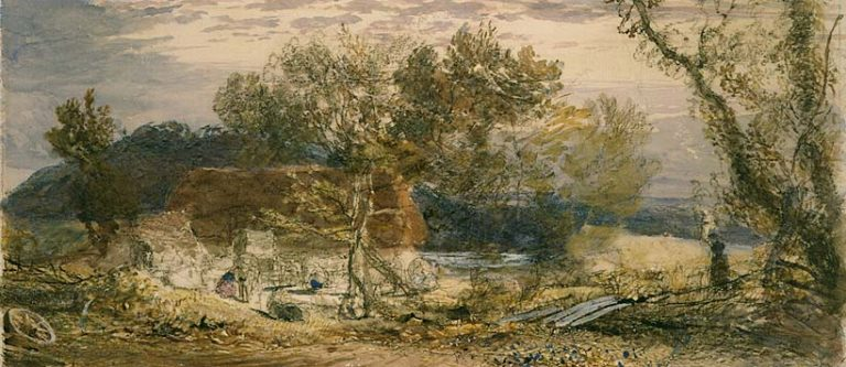 A Farm in Kent 1826 32 | Samuel Palmer | oil painting