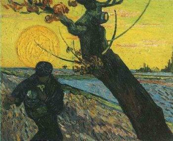 The Sower version 3 | Vincent Van Gogh | oil painting