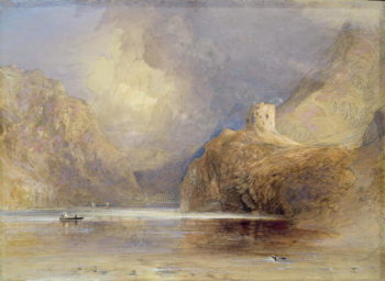 Dolbadern Castle Llanberis North Wales | Samuel Palmer | oil painting