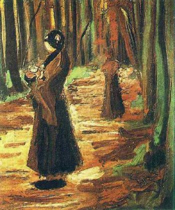 Two Women in the Woods | Vincent Van Gogh | oil painting