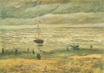 View of the Sea at Scheveningen | Vincent Van Gogh | oil painting