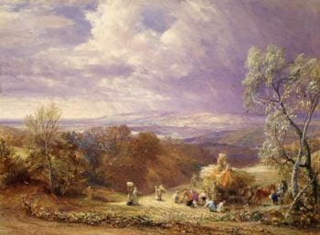 Harvesting | Samuel Palmer | oil painting