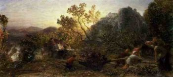 Harvest in the Vineyard 1859 | Samuel Palmer | oil painting