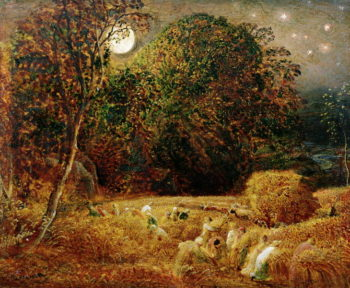 Harvest Moon | Samuel Palmer | oil painting