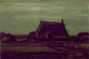 Farm with Stacks of Peat | Vincent Van Gogh | oil painting