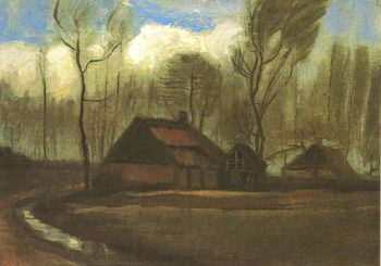 Farmhouses Among Trees | Vincent Van Gogh | oil painting