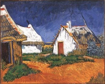 Three White Cottages in Saintes-Maries | Vincent Van Gogh | oil painting