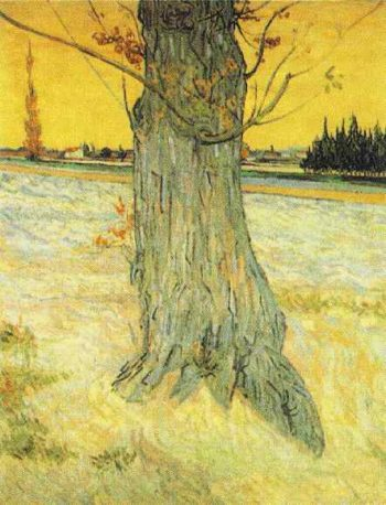 Trunk of an Old Yew Tree | Vincent Van Gogh | oil painting