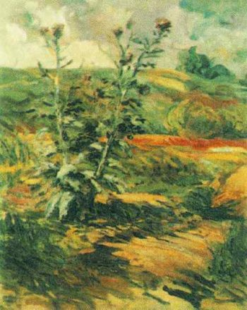 Two Thistles | Vincent Van Gogh | oil painting