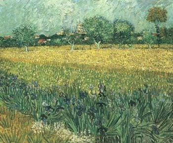 View of Arles with Irises in the Foreground | Vincent Van Gogh | oil painting