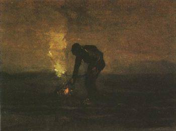Peasant Burning Weeds | Vincent Van Gogh | oil painting