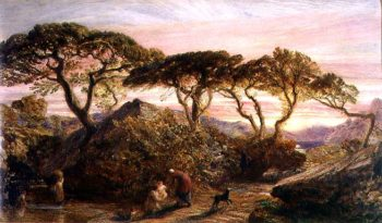 Sunset | Samuel Palmer | oil painting