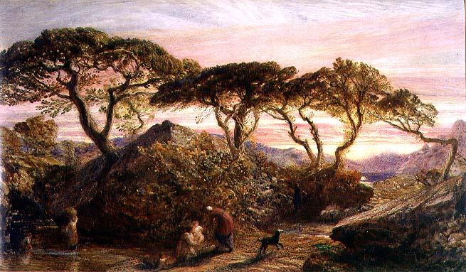 Sunset | Samuel Palmer | oil painting