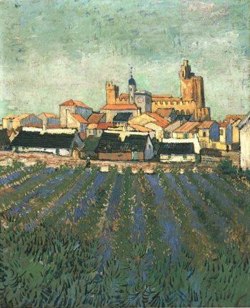 View of Saintes-Maries | Vincent Van Gogh | oil painting