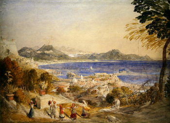 The Bay of Naples | Samuel Palmer | oil painting