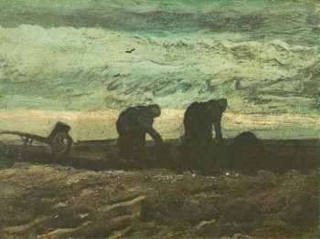Two Women in the Moor | Vincent Van Gogh | oil painting