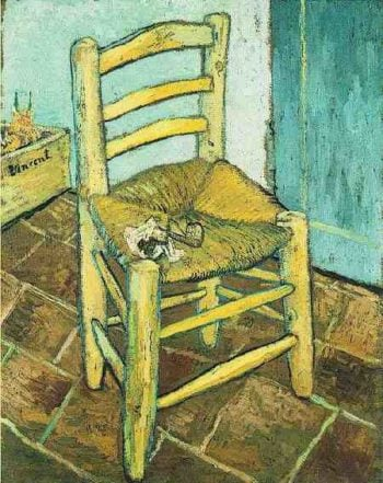 Vincents Chair with His Pipe | Vincent Van Gogh | oil painting