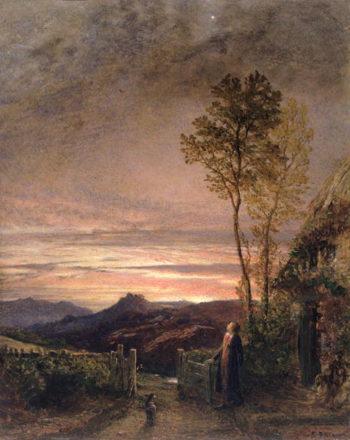 The Rising of the Skylark | Samuel Palmer | oil painting